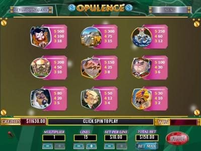 Mission 2 Game featuring the Video Slots Opulence with a maximum payout of Jackpot