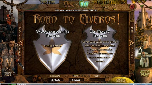 Orc vs Elf :: Road to Elveros - Woodland Spins and Elf Magic Feature