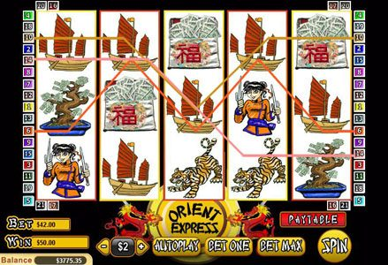 Miami Club featuring the Video Slots Orient Express with a maximum payout of $25,000