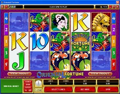 Play slots at VegasMobile: VegasMobile featuring the Video Slots Oriental Fortune with a maximum payout of $25,000