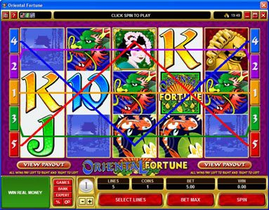 All Irish featuring the Video Slots Oriental Fortune with a maximum payout of $25,000