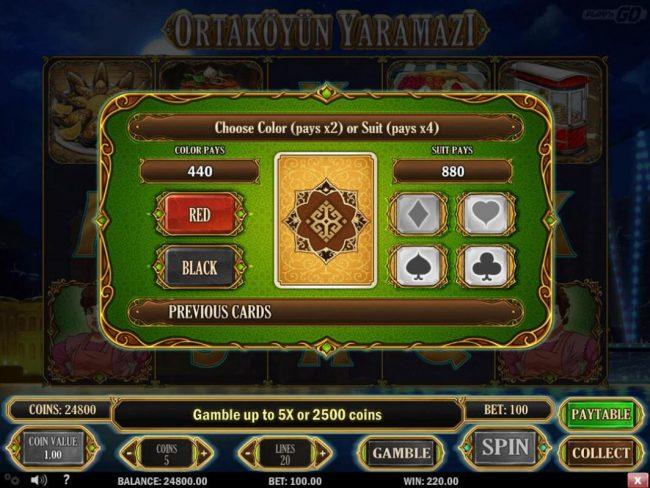 Intercasino featuring the Video Slots Ortakoyun Yaramazi with a maximum payout of $60,000