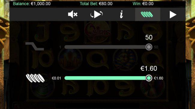 Osiris :: Betting Options