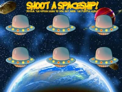 Out of this World :: bonus feature game board - shoot a spaceship to earn prizes