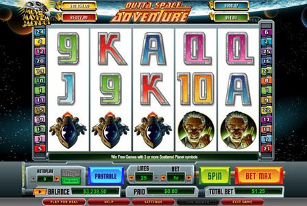 Play slots at Casiplay: Casiplay featuring the video-Slots Outta Space Adventure with a maximum payout of 6,000x