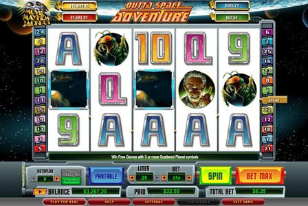 Casino Red Kings featuring the video-Slots Outta Space Adventure with a maximum payout of 6,000x