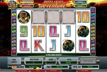 TS featuring the video-Slots Outta Space Adventure with a maximum payout of 6,000x