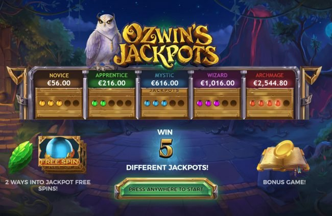 Play slots at Casino Room: Casino Room featuring the Video Slots Ozwin's Jackpots with a maximum payout of $160,000