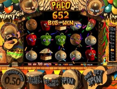 Rockbet featuring the Video Slots Paco and the Popping Peppers with a maximum payout of $2,500