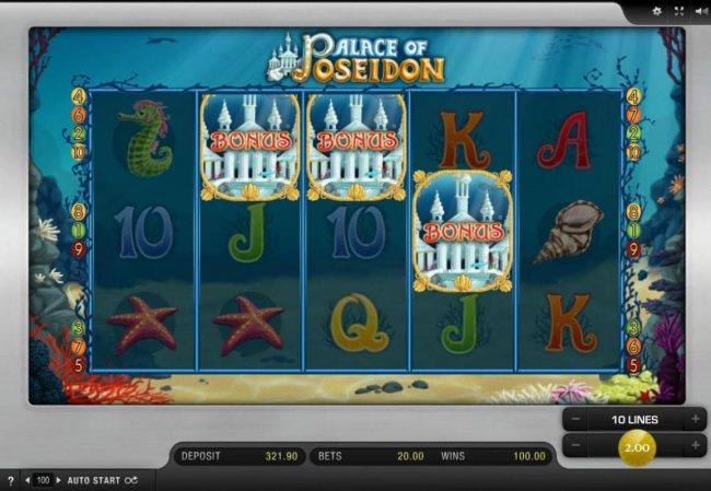 DruckGluck featuring the Video Slots Palace of Poseidon with a maximum payout of $30,000