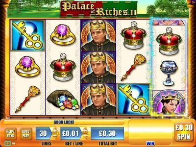 Dream Vegas featuring the Video Slots Palace of Riches II with a maximum payout of $2,250