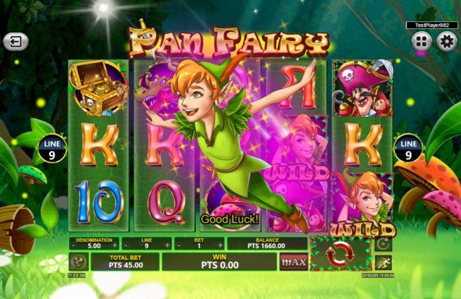 Pan Fairy :: Wild symbol triggers a winning combination