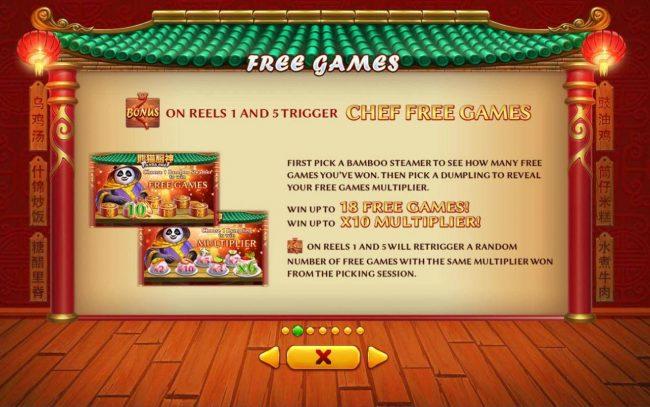Panda Chef :: Free Games Bonus Rules