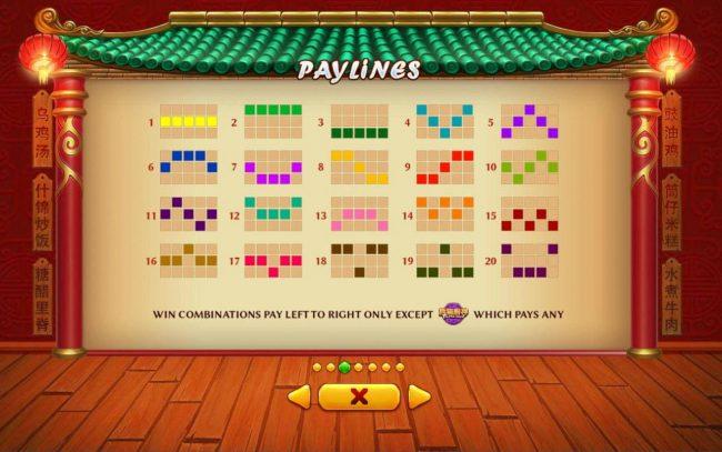 Panda Chef :: Paylines 1-20