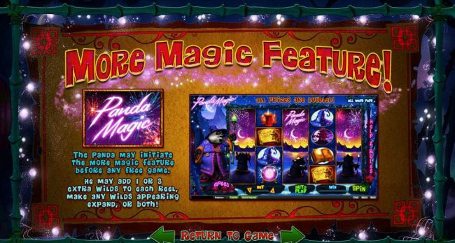 Slotastic featuring the Video Slots Panda Magic with a maximum payout of $500,000