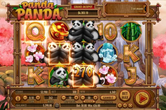 Buran featuring the Video Slots Panda Panda with a maximum payout of $150,000