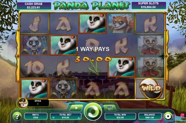 Drake featuring the Video Slots Panda Planet with a maximum payout of Jackpot