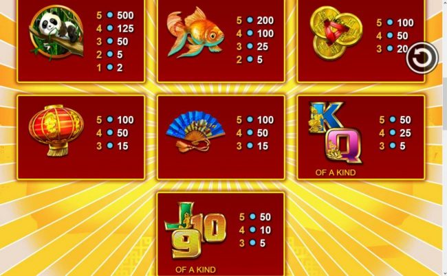Sun Play featuring the Video Slots Panda Pow with a maximum payout of $20,000