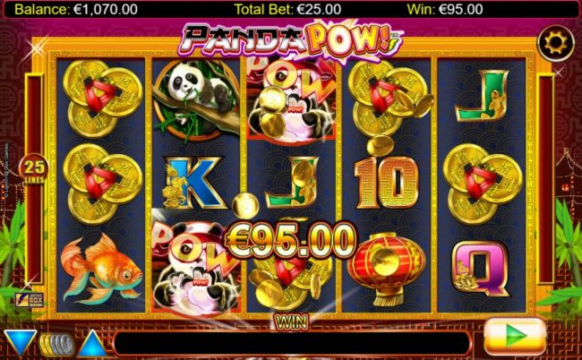 Karamba featuring the Video Slots Panda Pow with a maximum payout of $20,000