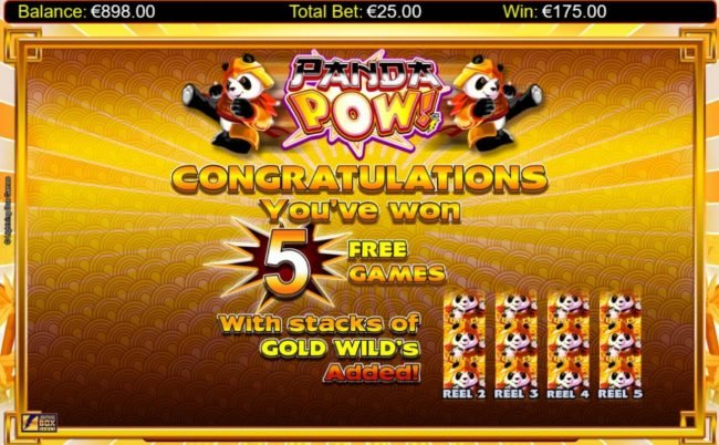 333 Palace featuring the Video Slots Panda Pow with a maximum payout of $20,000