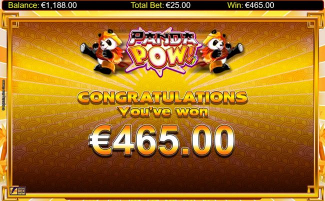 The free spins feature pays out a total of 465.00