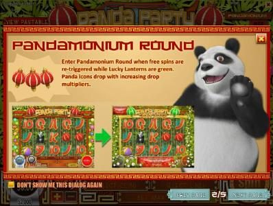 Lake Palace featuring the Video Slots Panda Party with a maximum payout of $3,750