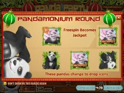 Vegas Fortune featuring the Video Slots Panda Party with a maximum payout of $3,750