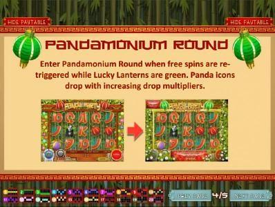 Three or more Lucky Lanterns enables the Pandamonium Round
