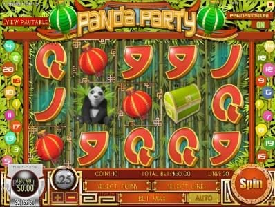 Royal Planet featuring the Video Slots Panda Party with a maximum payout of $3,750