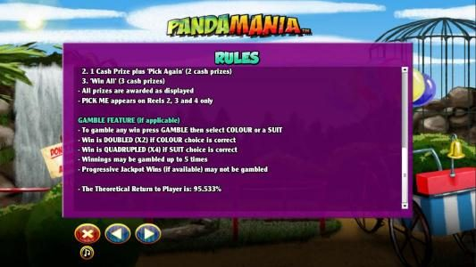 Casino Superlines featuring the Video Slots Pandamania with a maximum payout of $6,000