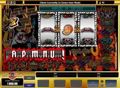 21 Dukes featuring the Video Slots Pandamonium with a maximum payout of $20,000