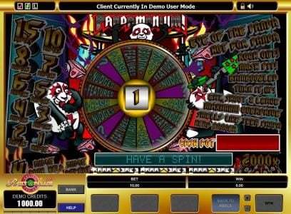 Tivoli featuring the Video Slots Pandamonium with a maximum payout of $20,000