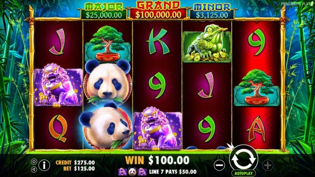 Play slots at Goodwin Casino: Goodwin Casino featuring the Video Slots Panda's Fortune with a maximum payout of $100,000