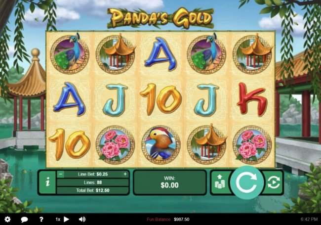 Play slots at Sun Palace: Sun Palace featuring the Video Slots Panda's Gold with a maximum payout of $10,000