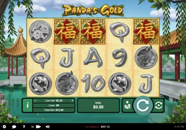Play slots at Royal Ace: Royal Ace featuring the Video Slots Panda's Gold with a maximum payout of $10,000