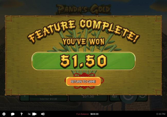 iNET Bet featuring the Video Slots Panda's Gold with a maximum payout of $10,000