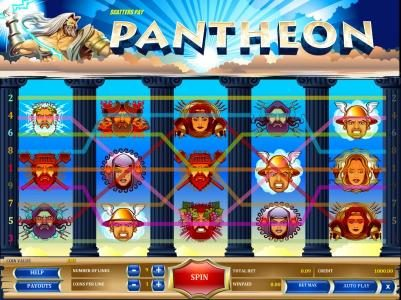 Pantheon :: game is configured with nine paylines