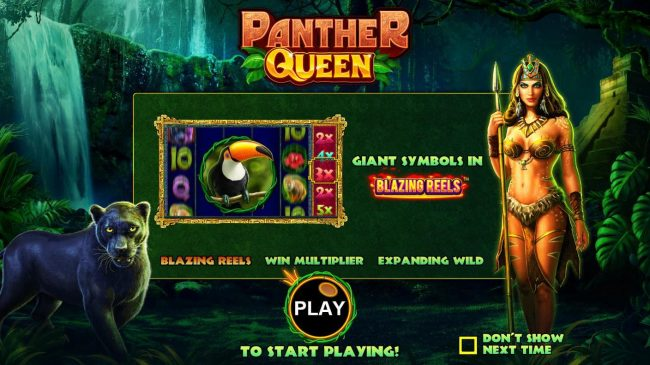 Panther Queen :: Game features include: Blazing Reels, Win Multiplier and Expanding Wilds.