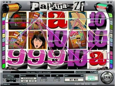 Play slots at Joe Fortune: Joe Fortune featuring the Video Slots Paparazzi with a maximum payout of $250,000