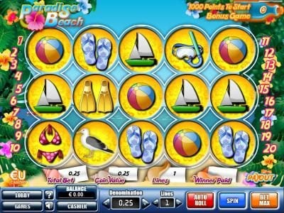 Play slots at Euro King: Euro King featuring the Video Slots Paradise Beach with a maximum payout of $35,000