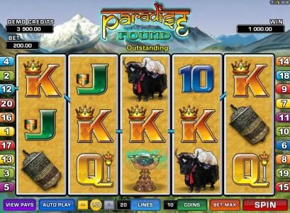 Winner Million featuring the Video Slots Paradise Found with a maximum payout of $20,000