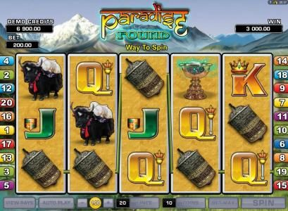 Rich Reels featuring the Video Slots Paradise Found with a maximum payout of $20,000
