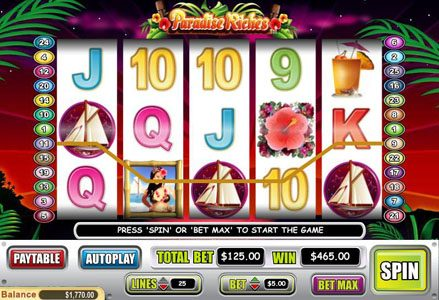 Play slots at Intertops Classic: Intertops Classic featuring the Video Slots Paradise Riches with a maximum payout of $100,000