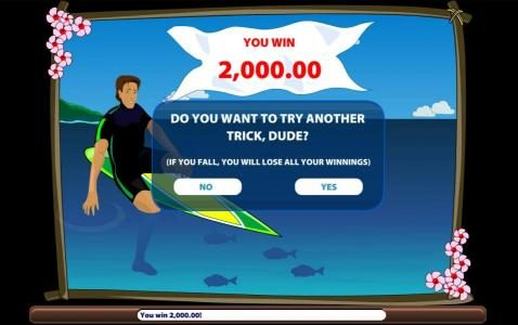 Paradise Suite :: A 2,000.00 prize awarded. You can keep your winnings or risk it to try for another prize award.