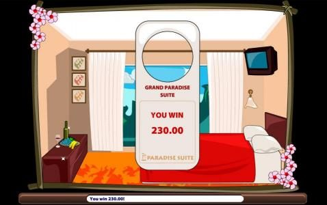 Paradise Suite :: A 230.00 prize is awarded for the bonus 1 feature