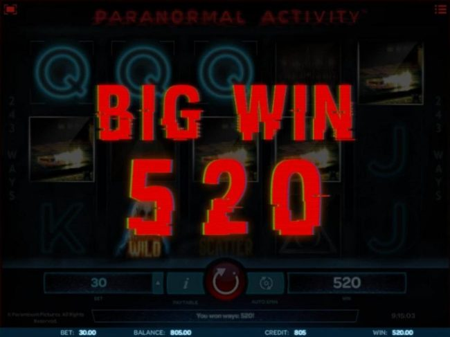 A 520 coin big win awarded.