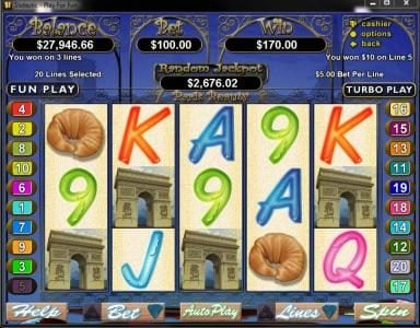 Play slots at Slots Empire: Slots Empire featuring the Video Slots Paris Beauty with a maximum payout of $250,000