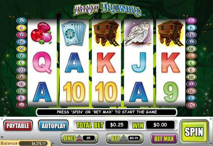 Play slots at Intertops Classic: Intertops Classic featuring the Video Slots Tarot Treasure with a maximum payout of $100,000