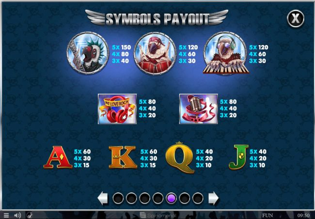 Africa Casino featuring the Video Slots Parrots Rock with a maximum payout of $45,000