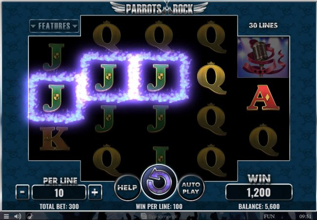 NordiCasino featuring the Video Slots Parrots Rock with a maximum payout of $45,000